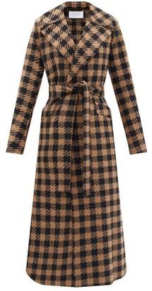 Harris Wharf London Gingham Wool-blend Trench Coat - Brown Multi