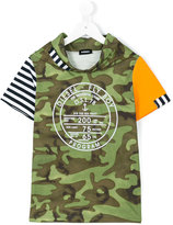 Diesel camouflage hooded t-shirt - kids - Cotton - 8 yrs
