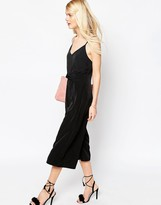 ASOS COLLECTION ASOS Jumpsuit with Cami Straps and Culotte Leg