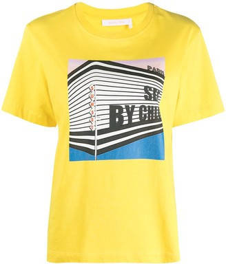 See by Chloe Graphic-Print Cotton T-Shirt