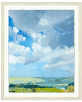 Pottery Barn River Clouds Framed Print