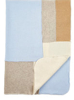Agua Patchwork Cashmere Baby Blanket-BLUE