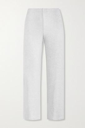 Leset Lori Brushed Stretch-jersey Wide-leg Pants - Light gray