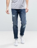 Esprit Relaxed Slim Fit Jeans with Distressing
