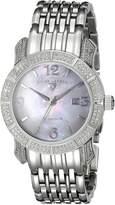 Swiss Legend Women's 23024-WMOP Marquise Diamond Collection Stainless Steel Watch
