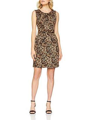 Yumi Women's Leopard Print Tulip Dress, Brown, 8