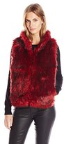 Buffalo David Bitton Women's Alaina Faux Fur Puffer Vest