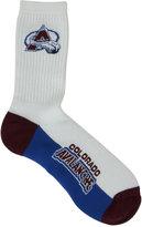 For Bare Feet Colorado Avalanche Crew White 506 Socks
