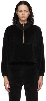 Gil Rodriguez Black Velour Diana Half-Zip Sweatshirt