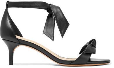 Alexandre Birman Clarita Bow-embellished Leather Sandals - Black