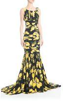 Dolce & Gabbana Charmeuse Lemon-Print Gown