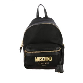 Moschino Backpack Canvas Backpack With Maxi Laminated Logo