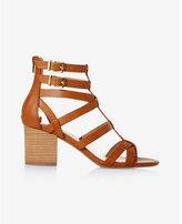 Express low block heel gladiator sandal