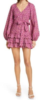 LoveShackFancy Rina Cap Sleeve Dress