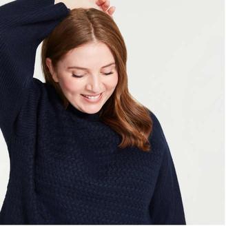Joe Fresh Women+ Texture Turtleneck Sweater, Off White (Size 2X)