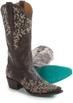 """Lane Boots Madeleine Embroidered Cowboy Boots - Leather, 13"""" (For Women)"""
