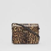 Burberry Large Leopard Print Leather Grace Bag