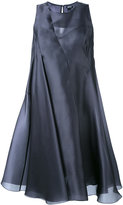 Jil Sander Navy flared swing dress - women - Silk/Polyester - 40