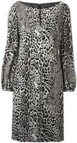 Roberto Cavalli leopard print longsleeved dress - women - Spandex/Elastane/Viscose - 44