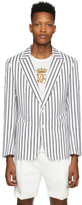 Dolce & Gabbana White Striped Blazer