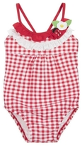 Mayoral Gingham Ladybug Swimsuit