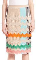 Missoni Draped Stripe Knit Skirt