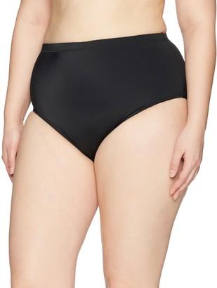 Fit 4 U Women's Fit 4U Solid Swim Brief Bikini Bottom