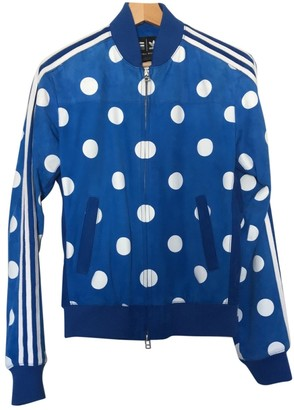 Pharrell Adidas X Williams Blue Leather Jacket for Women