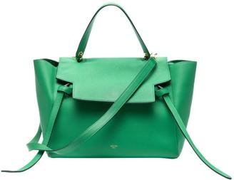 Celine Belt Green Leather Handbags
