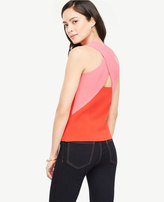 Ann Taylor Cross Back Sleeveless Sweater