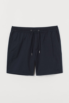 H&M Slim Fit Cotton Shorts - Blue