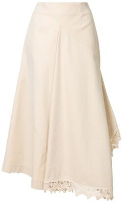 GOEN.J Asymmetric Midi Skirt