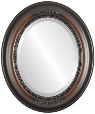 """The Oval And Round Mirror Store Boston Framed Oval Mirror in Walnut, 25""""x35"""""""