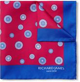 Richard James - Compass-printed Silk-twill Pocket Square