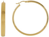 Argentovivo 50mm Flat Hoop Earrings