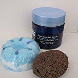 Bath Bombs: Ocean Waves Bath Bomb, 24 oz Ocean Therapy Dry Salt Scrub, Pumice Stone by Dead Sea Spa Care, Bubble Bath