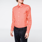 Paul Smith Men's Slim-Fit 'Peach' Print Cotton Shirt