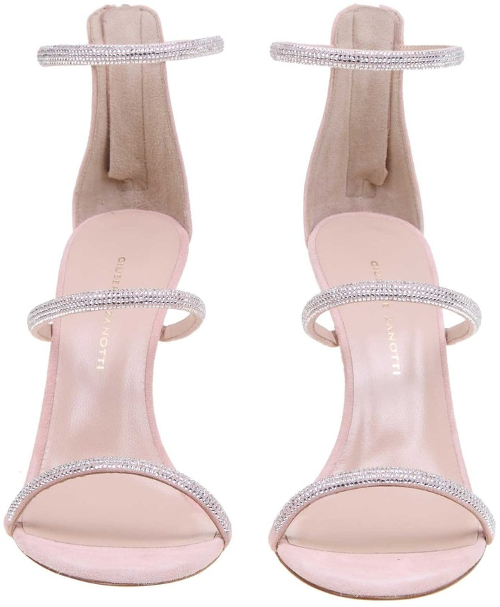 Thumbnail for your product : Giuseppe Zanotti Pink Suede Sandal