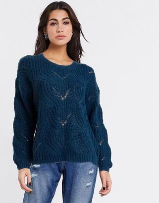 Only havana crochet jumper in blue