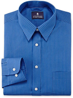 STAFFORD Stafford Travel Performance Point Collar Long Sleeve Wrinkle Free Stain Resistant Super Mens Shirt Dress