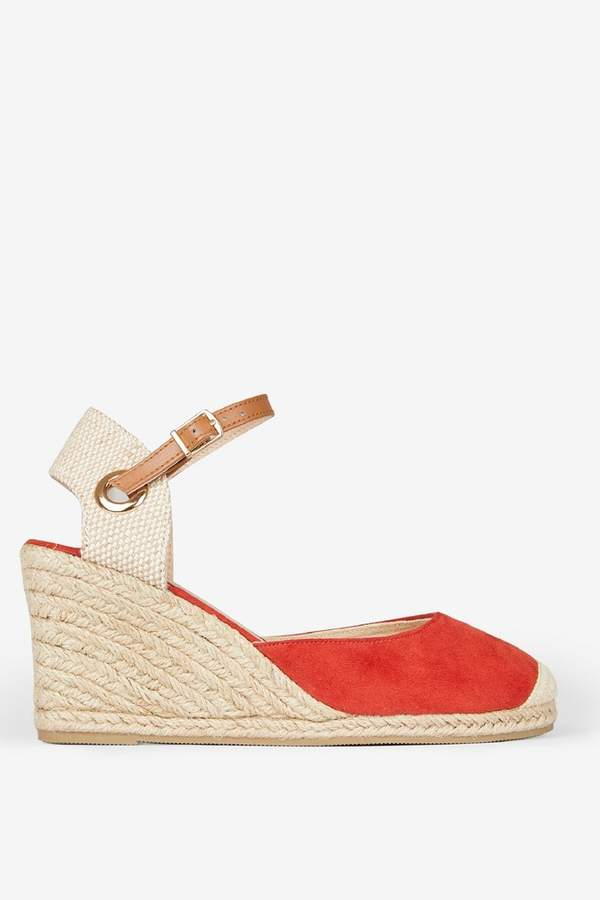 d5e4b1fc341 Womens Wide Fit Raya Espadrille Wedge - Red