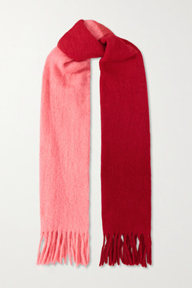 Isabel Marant Firna Fringed Ombre Alpaca-blend Scarf - Red