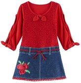 Nannette Toddler Girl Lace Mock-Layer Dress