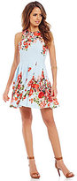 Gianni Bini Marcy Floral Bouquet A-line Dress