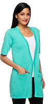 Joan Rivers Classics Collection As Is Joan Rivers Wardrobe Builders (R) Short Sleeve Cardigan