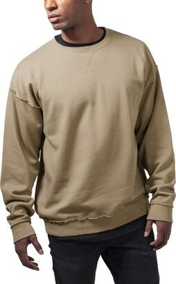 Urban Classics Men's Oversized Open Edge Crew Sweatshirt
