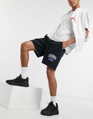 Puma x The Hundreds graphic shorts in black