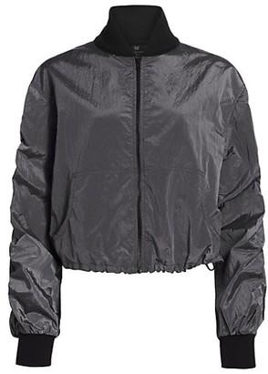 Heroine Sport Ruched Bomber Jacket