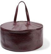 Balenciaga Air Textured-leather Tote - Burgundy