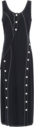 Derek Lam 10 Crosby Button-detailed Crepe De Chine Midi Dress